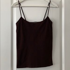 Bebe chocolate brown seamless stretchable camisole